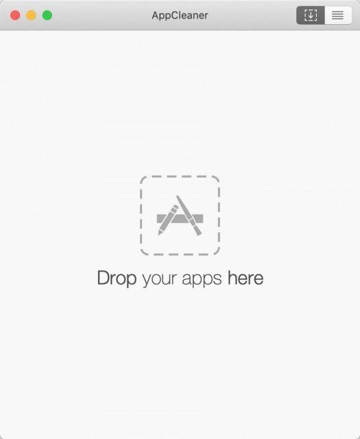 AppCleanerのメイン画面