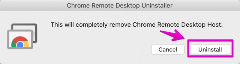 chromeリモートデスクトップのアンインストール