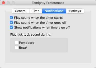 Mac版「Tomighty」設定