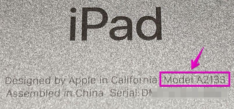 iPad裏の刻印