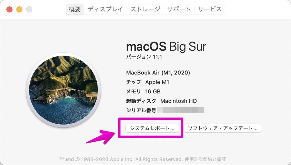 Macの情報パネル