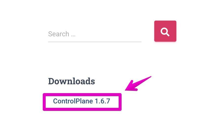 ControlPlane公式サイトのダウンロードリンク