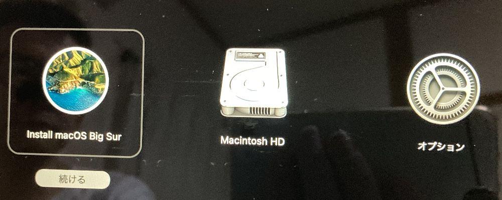 Macのリカバリモード