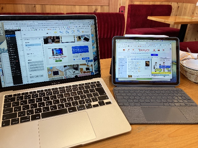 MacBook AirとiPad AirでSidecar使用