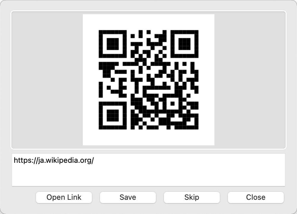 アプリ「QR Journal」でImport