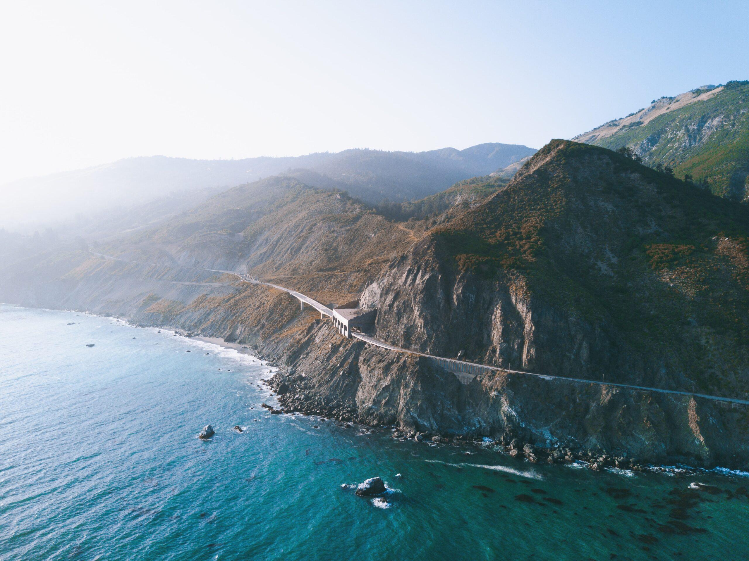 Big Surの断崖絶壁