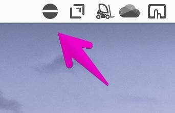 Macのアプリ「Amphetamine」のセッション停止中のアイコン表示
