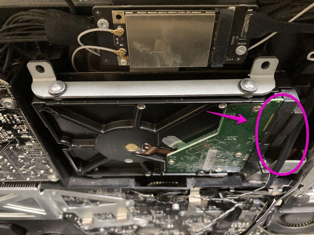 iMac Late 2009のHDDを取り外す