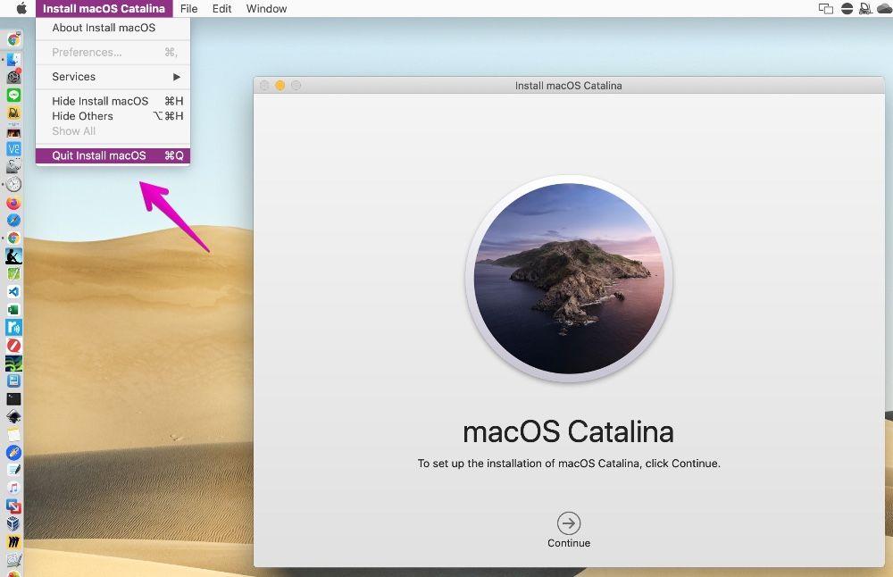 macOS 10.15 Catalina installer
