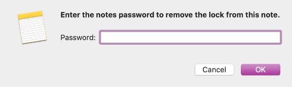 Notes Remove Lock
