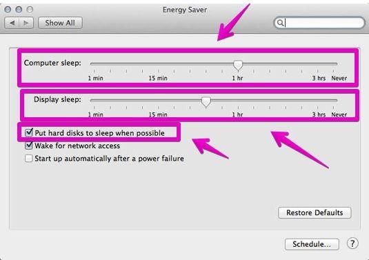 """Mac """"System Preferences"""" - """"Battery"""""""