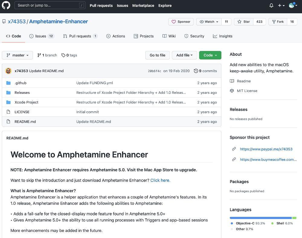 Amphetamine Enhancer GitHub