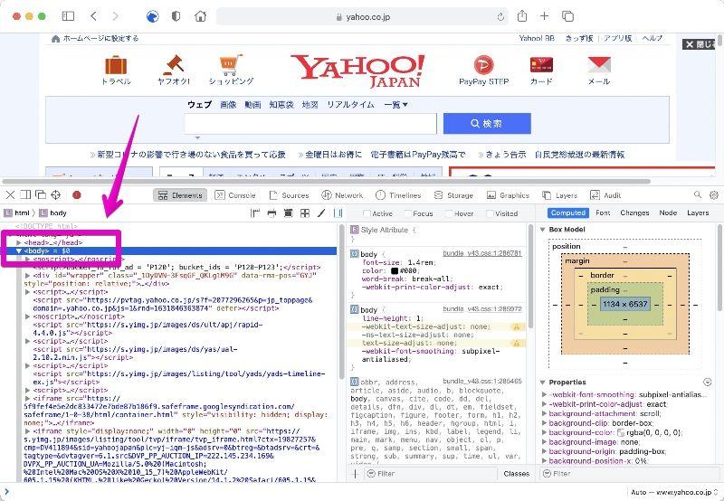 Mac Safari Develop mode