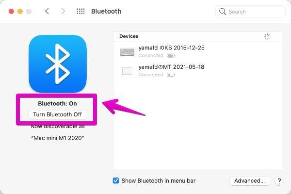 "Mac ""System Preferences"" - ""Bluetooth"""