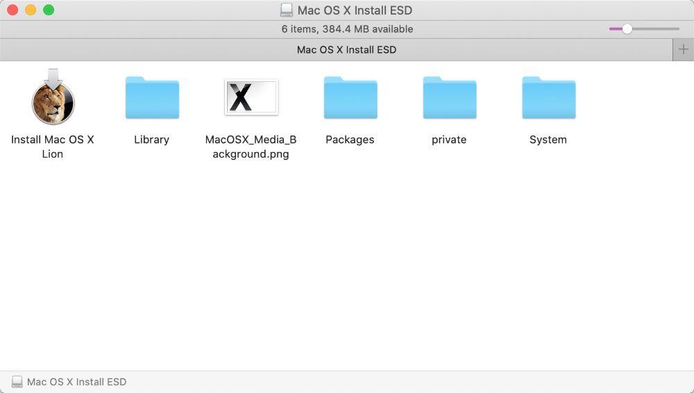 OS X install USB flash memory