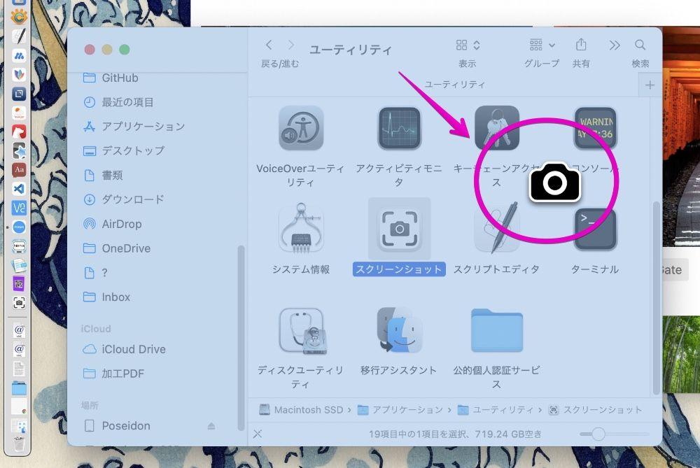Mac screenshot cursor